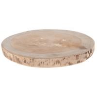 Holzscheibe aus Teakholz natur 18x18x2 cm
