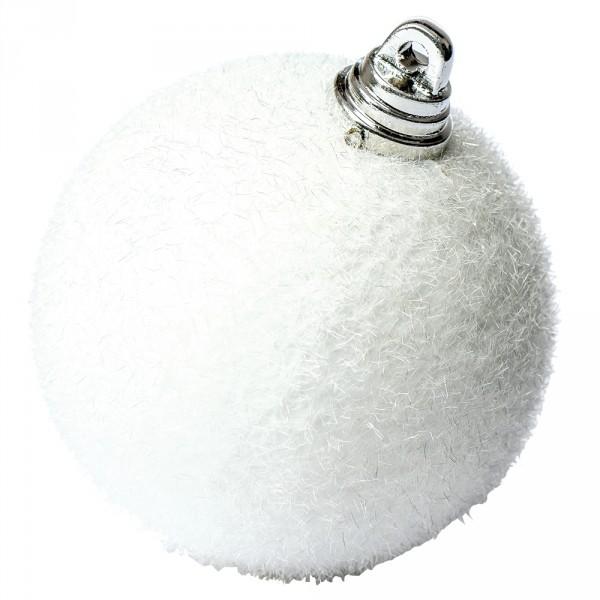 Deko Schneekugel weiß Ø 6cm m.Aufhängeöse