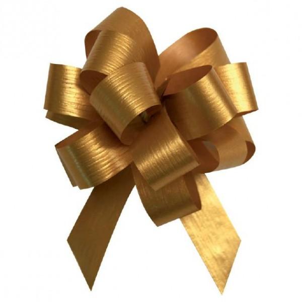 Ziehschleife matt Ø10cm 19mm gold