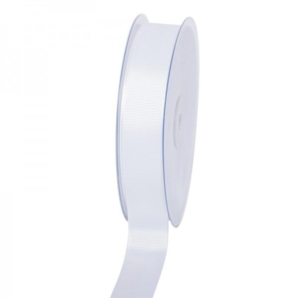 Geschenkband Grosgrain 25 mm/50Meter weiß