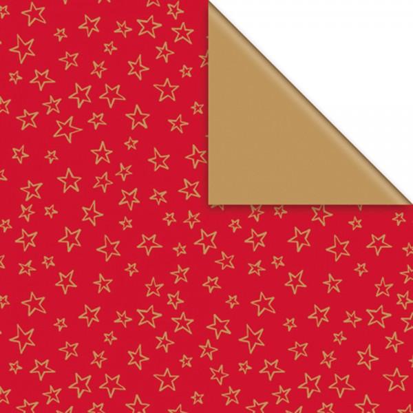 Geschenkpapier Rolle 50cm 50m Limar rot-gold