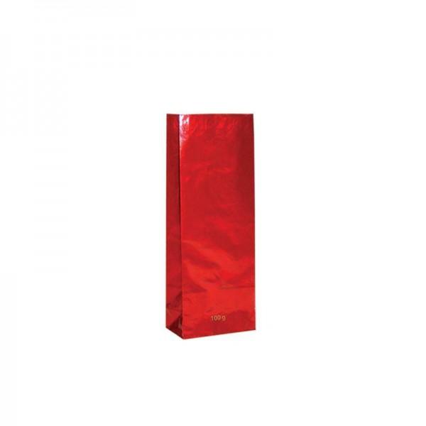 Tee Blockbodenbeutel 100 gr. 7x4x19cm rot