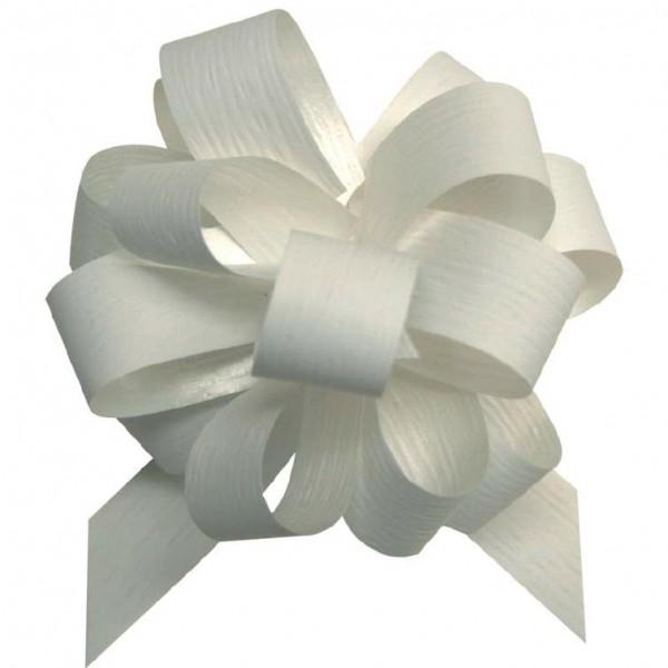 Ziehschleife matt Ø10cm 19mm weiß