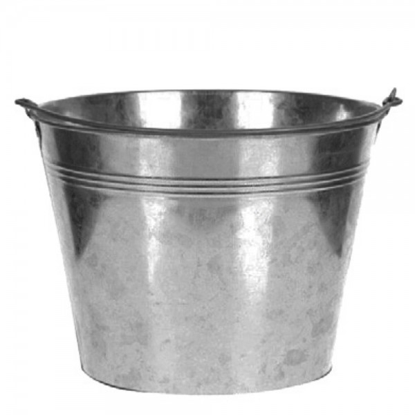 Eimer für Deko Alu silber Höhe 14.5cm Ø 18,5cm