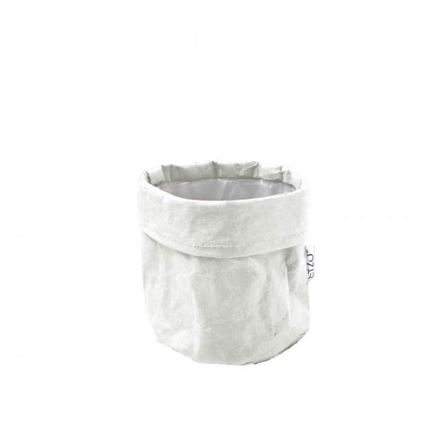 Papier Bag Ø 13cm Höhe 13cm Weiß