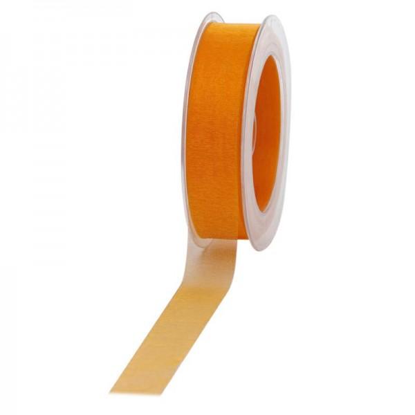Geschenkband Chiffon 25mm/50Meter dunkelgelb