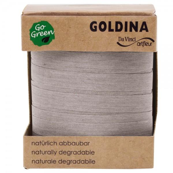 Ringelband biologisch abbaubar10mm/100Meter Silber