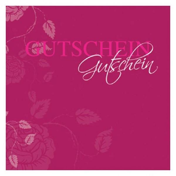 Gutschein-Klappkarte bordeaux