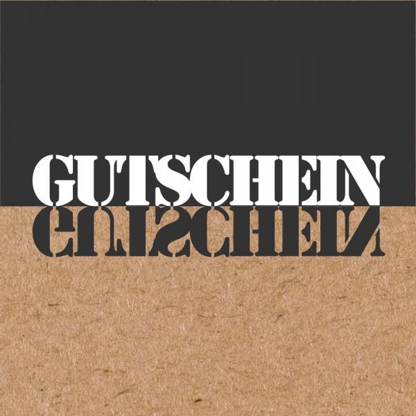 Gutschein-Klappkarte Natur/schwarz 2020