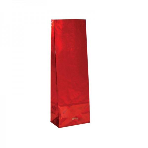 Tee Blockbodenbeutel 250gr. 8x5x24cm rot