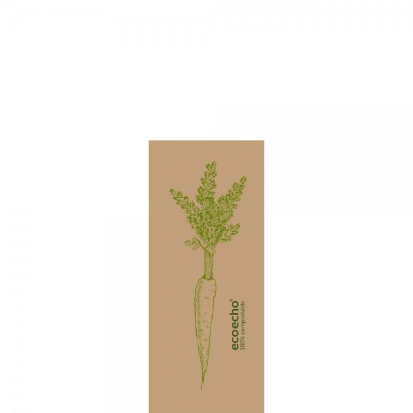 DUNI Spenderserviette 33x32cm 1-lagig Veggies Braun