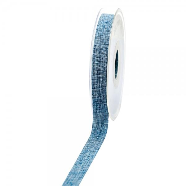 Geschenkband Leinenoptik 15mm 20Meter Jeansblau
