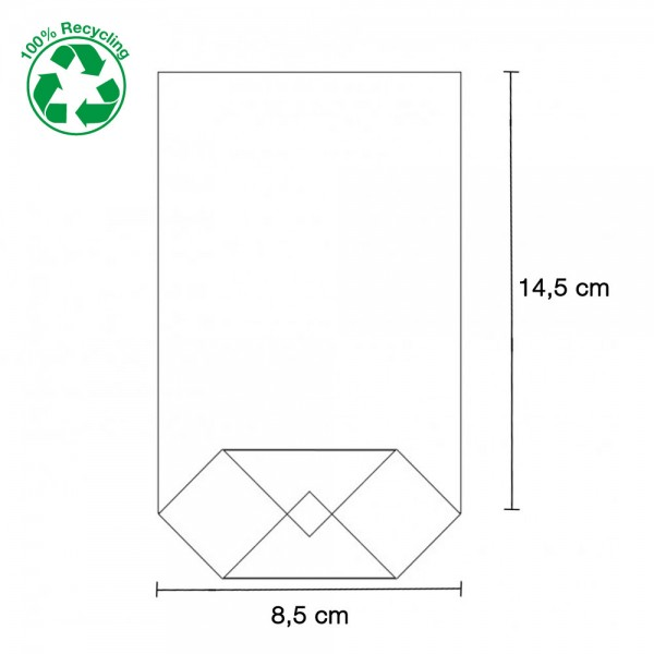 Zellglas Bodenbeutel 85x145mm