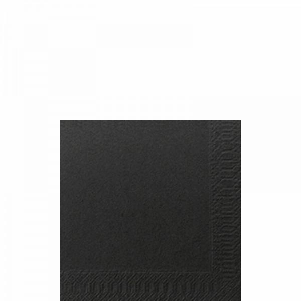 Duni Zelltuch Servietten 24 x 24 cm 3-lagig black