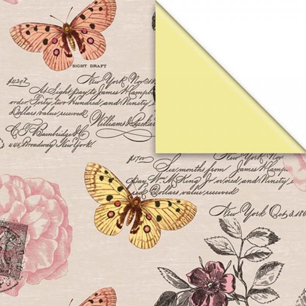 Geschenkpapier Rolle 50cm 50meter Schmetterlinge
