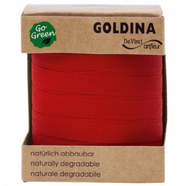 Ringelband biologisch abbaubar 10mm/100Meter Rot