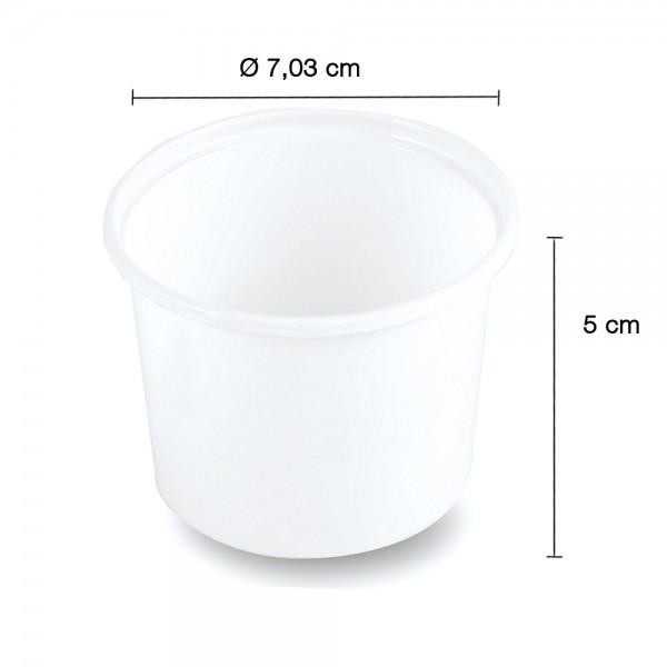 Verpackungsbecher 125ml. weiß