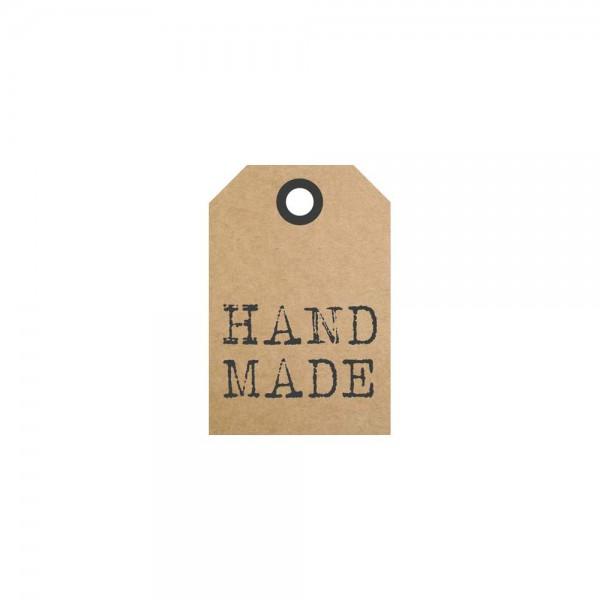 Anhängeetiketten Handmade 3,5x5,2cm braun