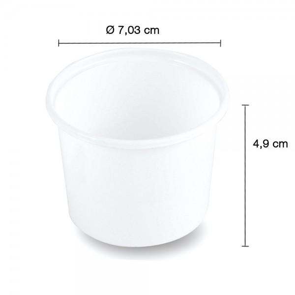 Verpackungsbecher 100ml. weiß