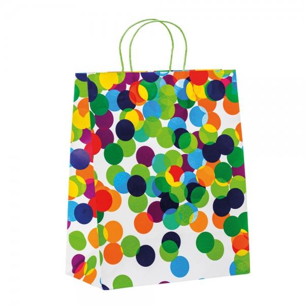 """Papier Tragetaschen """"Dots"""" 26,4x13,6x32,7cm"""