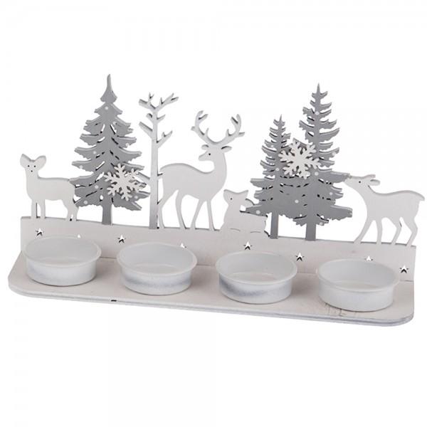 Kerzenhalter für Teelichter 23.5x6.5x11cm Stille Nacht
