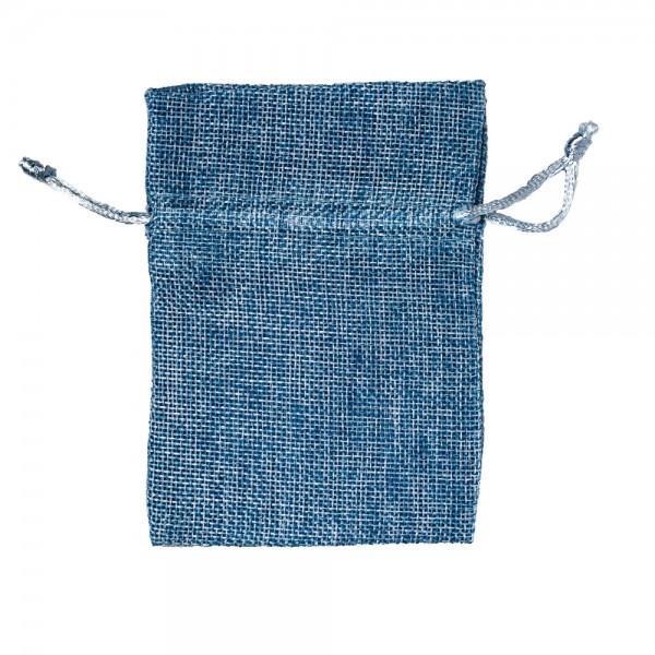 Säckchen in Leinenoptik 9 x 12 cm Hellblau
