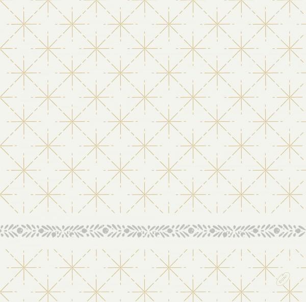 DUNI Dunisoft Serviette 40x40cm 1/4. Glitter White