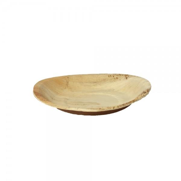 Teller rund aus Palmblatt Ø 24 cm, 2,5 cm tief