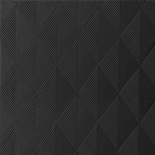 DUNI Elegance Serviette 48x48 cm 1/4F.Crystal schwarz
