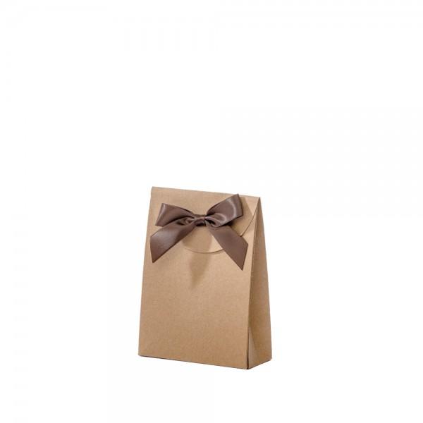 Geschenktasche 10x4x13,5+5cm braun
