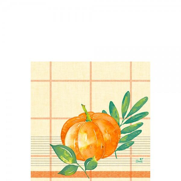 DUNI Zelltuch Serviette 33x33 cm 1/4F.Pumpkin Spice