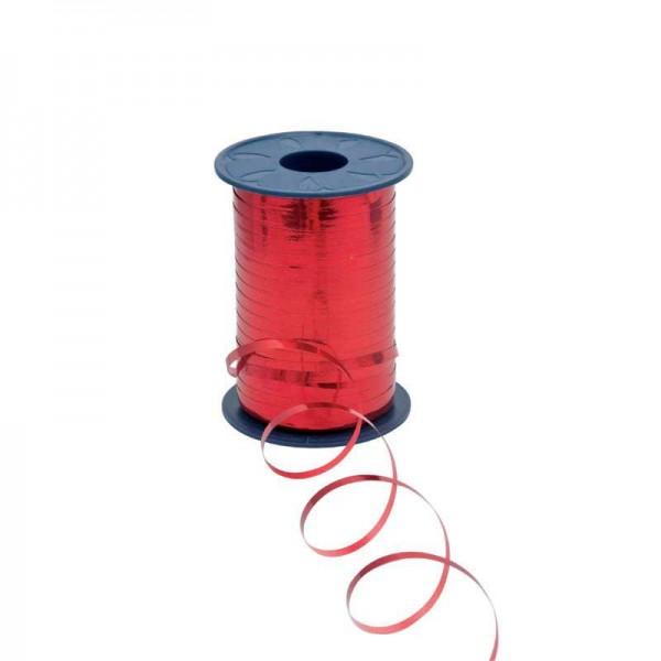 Polyband metallic 5mm 400Meter rot