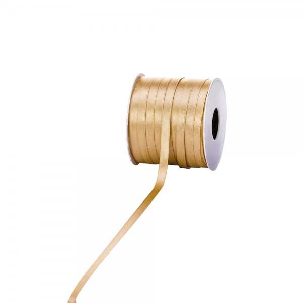 Satinband 6mm 100Meter gold