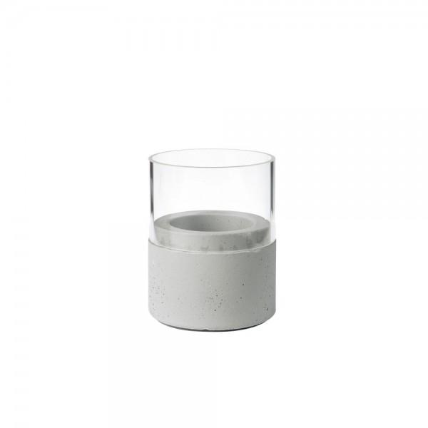 DUNI Kerzenhalter NEAT 75x68 mm grau m. Glas
