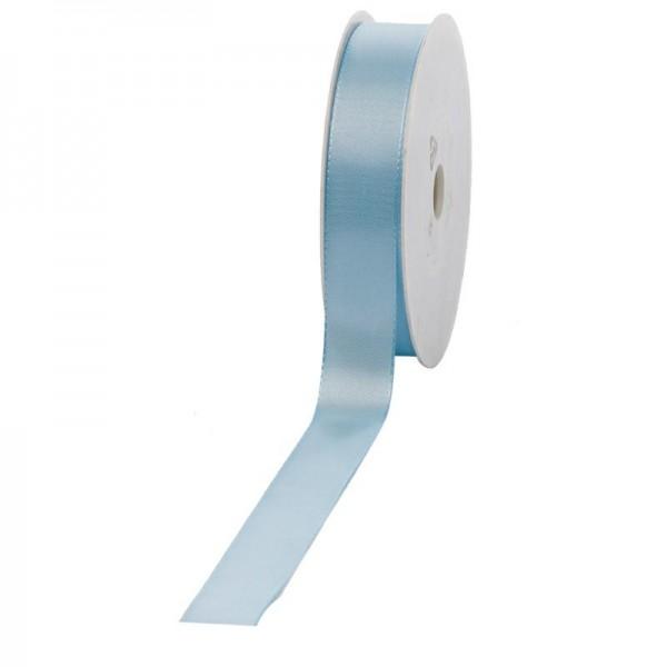 Geschenkband Stoff 25mm / 50Meter hellblau