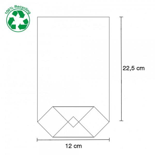 Zellglas Bodenbeutel 120x225mm
