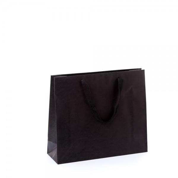 Tragetasche 32x10x27+5cm schwarz mit Chessband