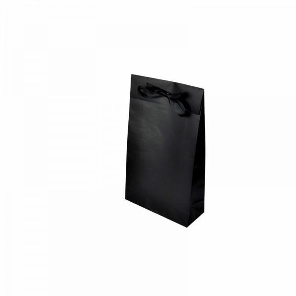 Geschenktasche schwarz 200x80x330+55mm