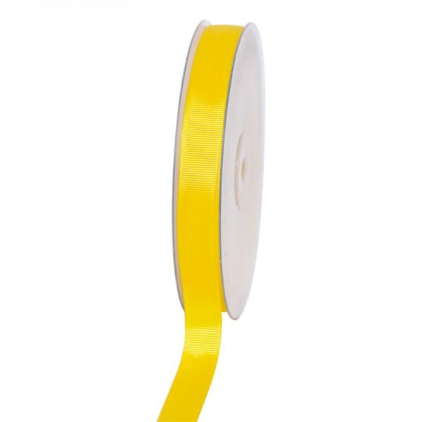 Geschenkband Grosgrain 16 mm/50Meter gelb