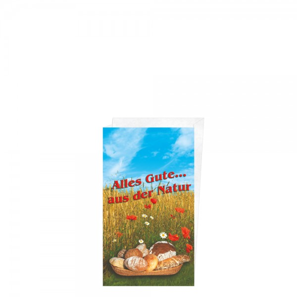 "Faltenbeutel ""Alles Gute aus der Natur"" 16+6x28cm Nr.3"
