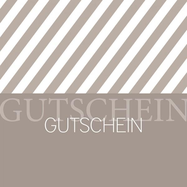 Gutschein-Klappkarte Stripes beige