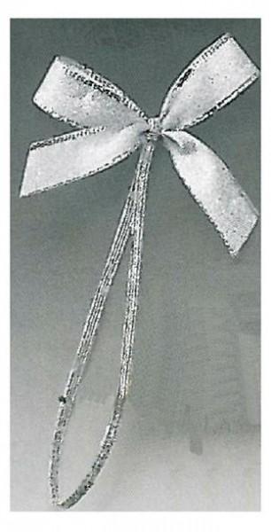 Fertigschleife silber Umband silber 20cm