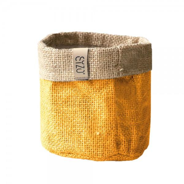 Jutebag Ø 25 cm Höhe ca.25 cm Gelb