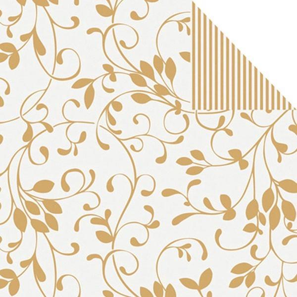 Geschenkpapier Rolle 30cm 250Meter Miron ceme/gold