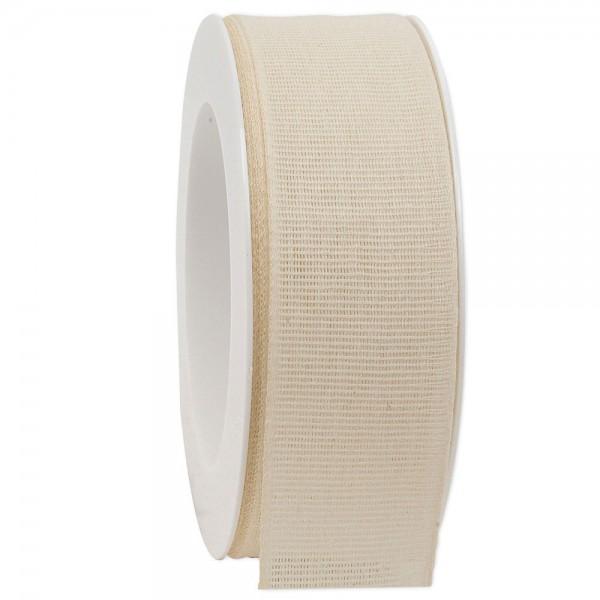 Leinenband biologisch abbaubar 40mm/20Meter Spring Creme