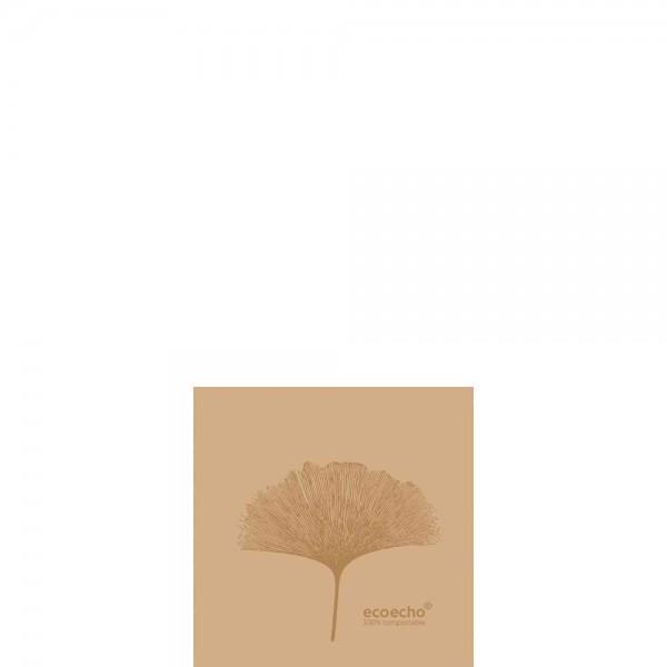 DUNI Dunisoft Serviette 20x20 cm 1/4F. Organic Braun