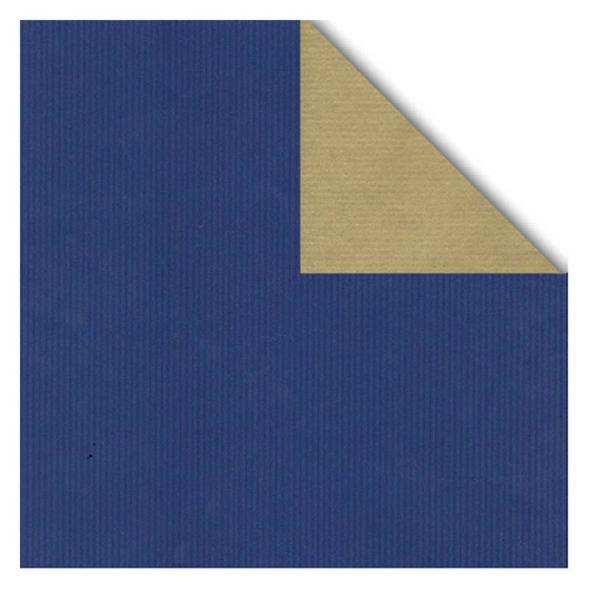 Geschenkpapier Bogen 70x100 cm blau/gold