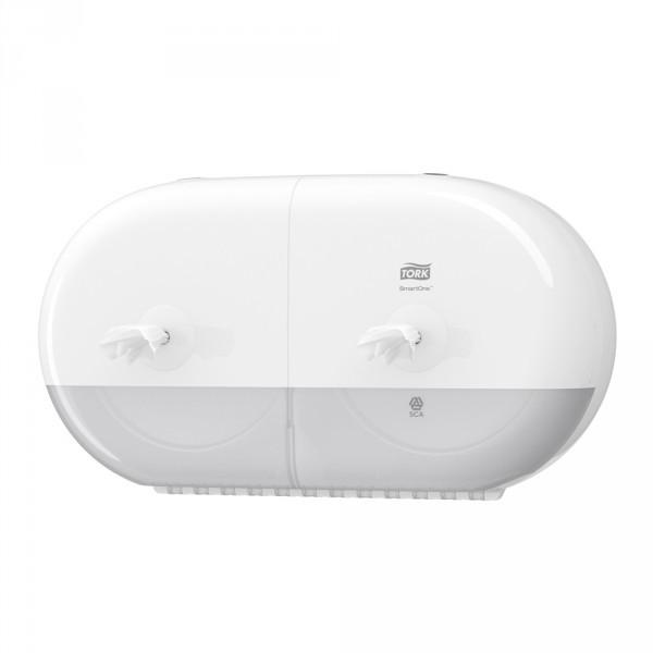 Tork SmartOne® Mini Doppelrollenspender weiß