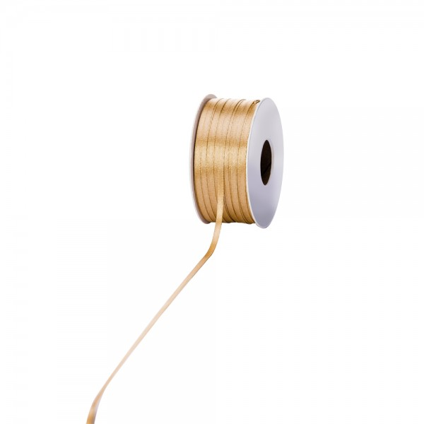Satinband 3mm 100Meter Gold