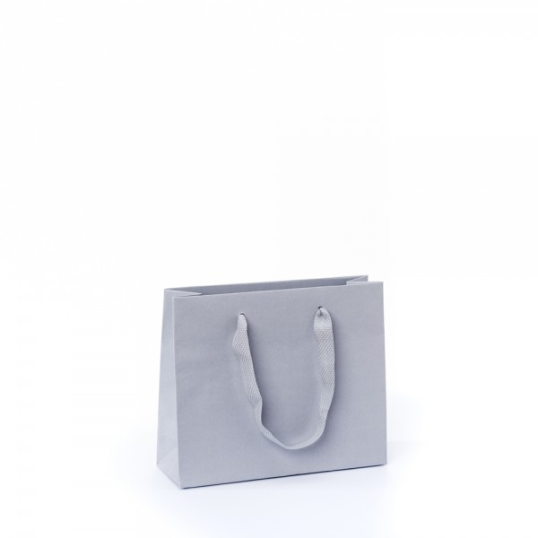 Tragetasche 24x8x20+5cm grau mit Chessband